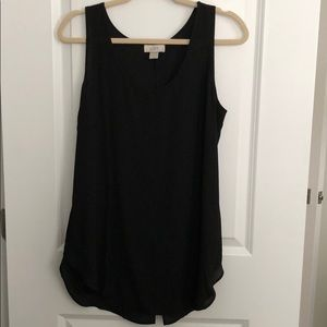Black top with buttons down back